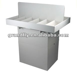 Dump bin with Removable Dividers Paper Carton CD/DVD Retail Bins