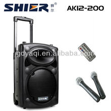 SHIER AK12-200 12 Inch church mobile amplifier with wireless microphone