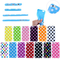 Polka Dots soft phone case for iphone 6S ,for iphone 6S case mix color