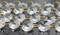 16MM CLEAR CRYSTAL GLASS CHAIN CHANDELIER LAMP BEAD GARLAND NEW
