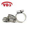 Stainless steel mini hose pipe clamp clip for auto and agricultural machinery