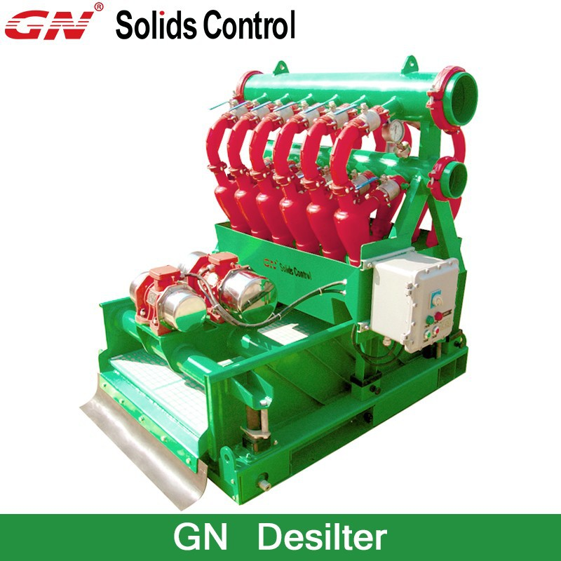 GN Desilter with Bottom Shale Shaker / Oil Drilling Mud Hydrocyclone Desilter Cleaner