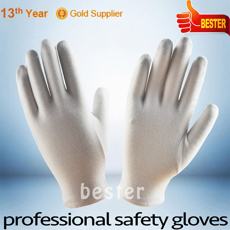 100% COTTON Top quality Factory white cotton gloves uniform marching band gloves