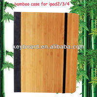 Shenzhen factory bamboo cover for ipad 2/3/4 case
