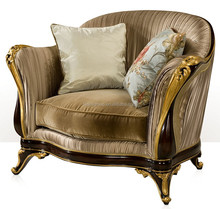 Noble Elegant One Seat Victorian Style Couch, Luxury Design Living Room Upholstery Sofa BF11-12282a