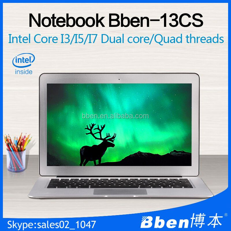 Best 13.3 inch Full HD 1920*1080 Aluminum Intel Core i7 Laptop Computer 4G&64G SSD Windows7/8 Wifi Webcam HDMI1 Slim Gaming PC