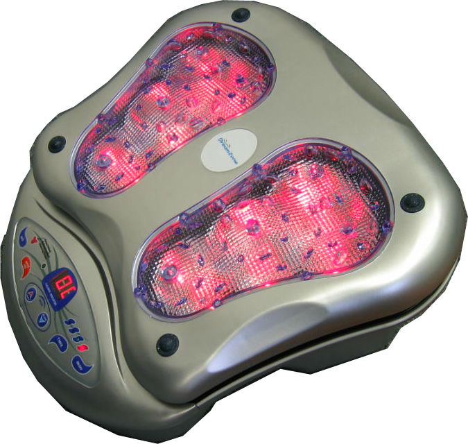 DreamZone Vibrating Foot Massager with Infrared heat Silver