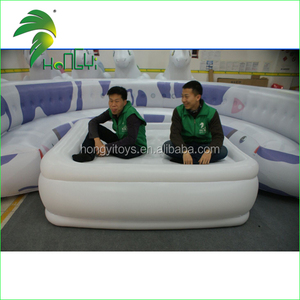 So Funny Design White PVC Large Comfortable Inflatable Sofa Bed Lounge Furniture