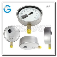 High quality 4 inch stainless steel brass internal master calibration standard pressure gauges with bottom connection