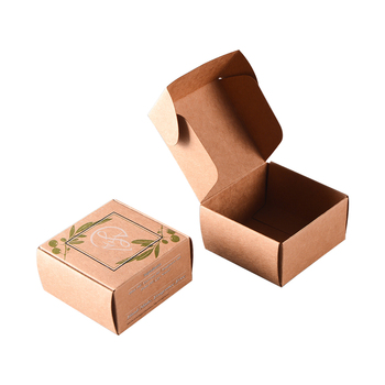 Cheap Foldable Biodegradable Natural Custom Soap Packaging Box , Folding Customized Small Brown Cardboard Carton Kraft Paper Box