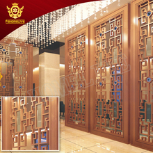 Shopping Mall Hall And Dining Metal Panels Stainless Steel Room Divider Cut Decorative Interior Metal Screen Partition