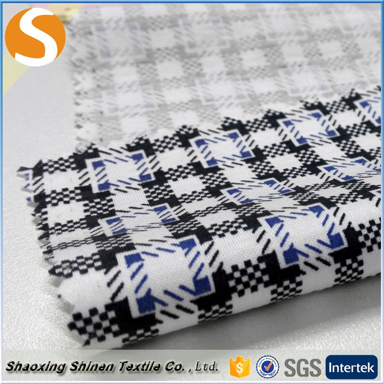 2016 high quality 100% combed mercerized cotton knitting printed jersey Fabric for garment