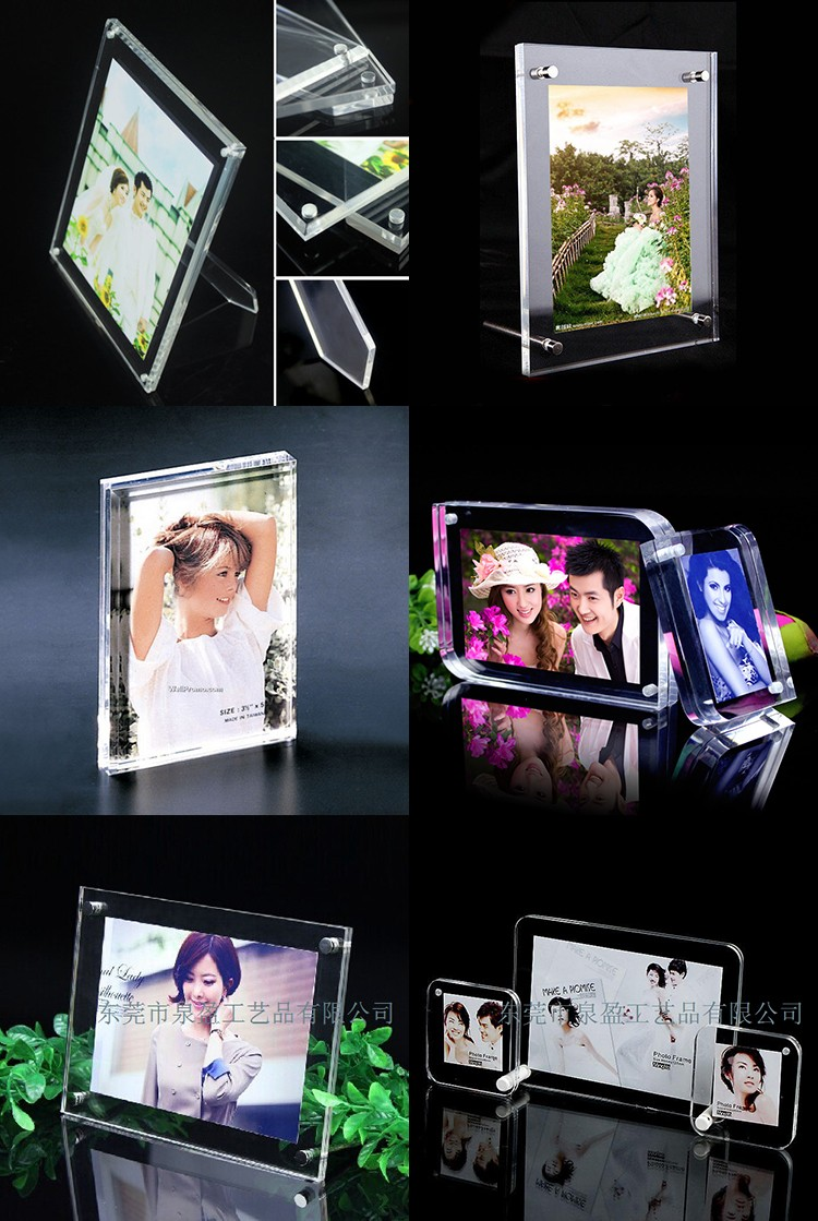 Hot selling children gift acrylic swing photo frame