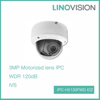 3 Megapixel Motorized lens Support 128G on-board Storage Smart IP Indoor Dome Camera
