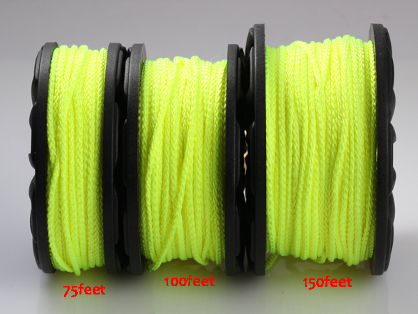 Diving finger spool with 150ft nylon rope diving accessory