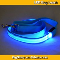 100pcs Wholesale Double LED Leash Nylon Two Sides Bright Light LED Dog Leash Flashing in Dark DL2504