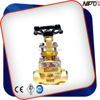 Aluminum Bronze Female Threaded and Socket Welded Forged Gate Valve