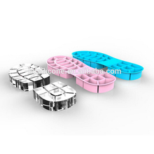 Unbreakable reusable non-toxic shoe design silicone ice cube trays