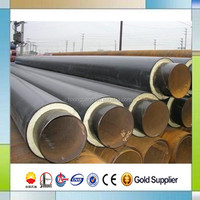 chilled water service pipe with seamless carbon steel pre insulated cooling pipe