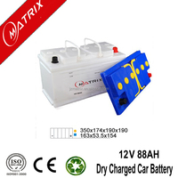 Dry charge car 12v 88ah sealed lead acid din88 automotive battery