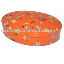 Round Cookie Tin Box; Round Candy Tin Can, Customized Metal Tin Can