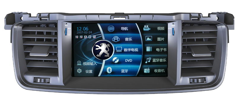touch sreen car dvd with GPS Navigation for PEUGEOT 508 car audio radio bluetooth ipod car dvd gps