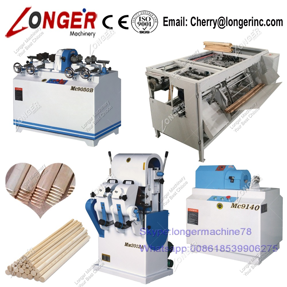 Wooden Broom Stick Processing Line Wood Broom Stick Macking Machine