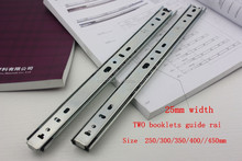 25 width 2-fold ball bearing cold rolled steel drawer slide