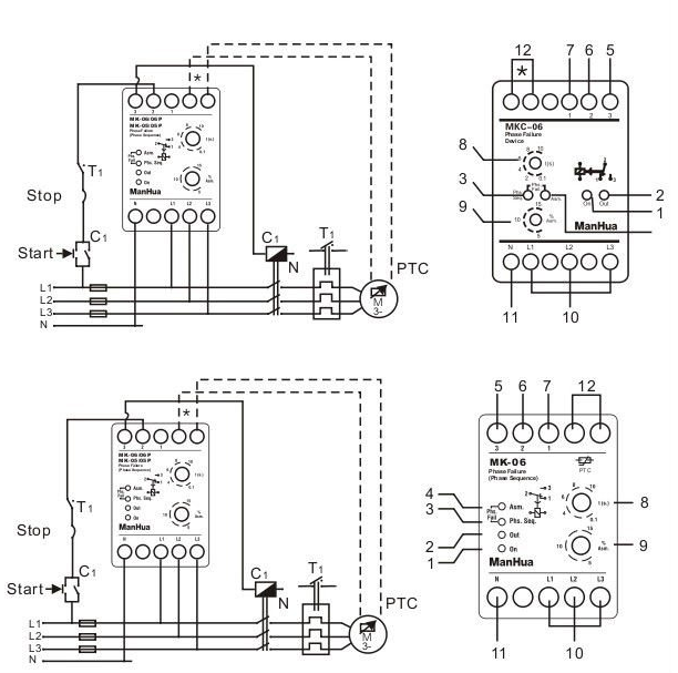 undervoltage relay wiring diagram