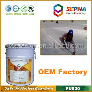 High strength without asphalt glue road joint adhesive sealant