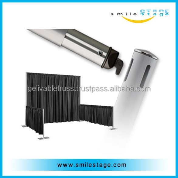 aluminum cheap wedding pipe and drape for photo booth with standard black velvet curtains