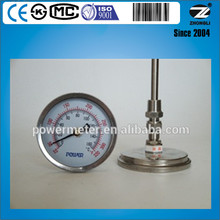 100mm all stainless steel high quality back connection thermometer