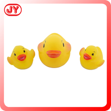 Hot selling 3 pcs soft bath yellow duck for kids