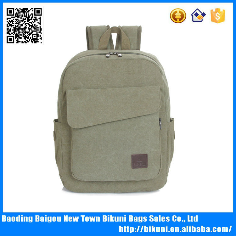 Alibaba China online factory outlet bags custom wholesale vintage high end teenage back bags discount canvas backpack for man