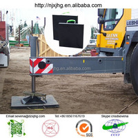 Outrigger pads and outrigger mats for cranes and working platforms