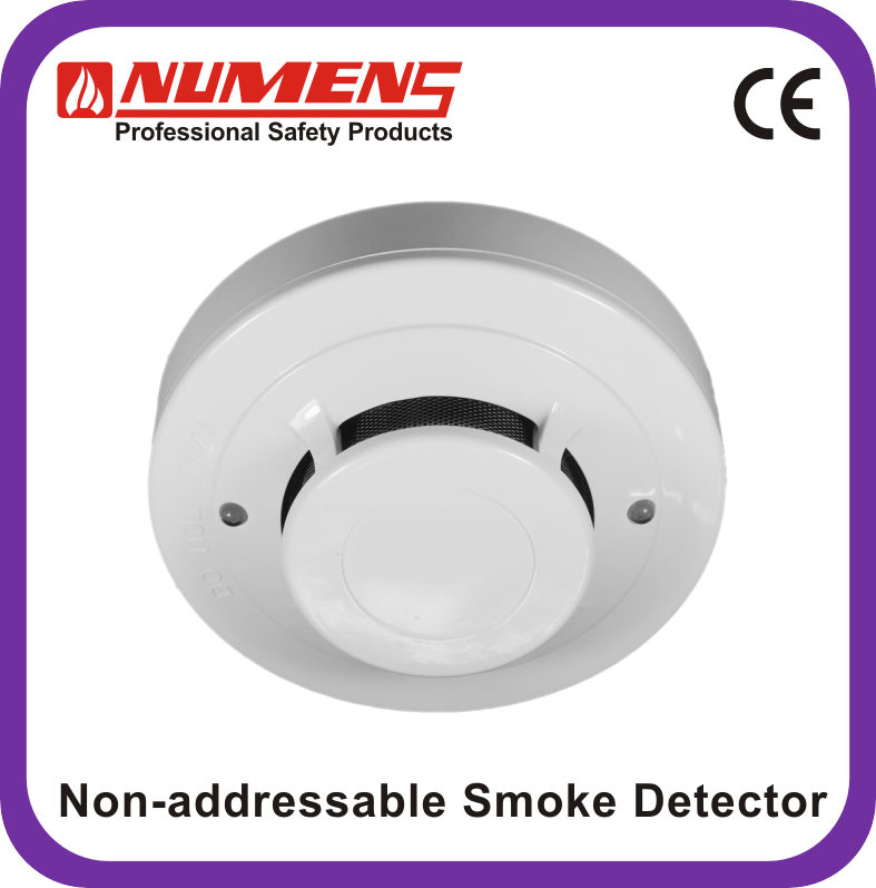 Addressable Smoke Detector Wiring Diagram: Relay Output 4-wire Conventional Smoke Detector