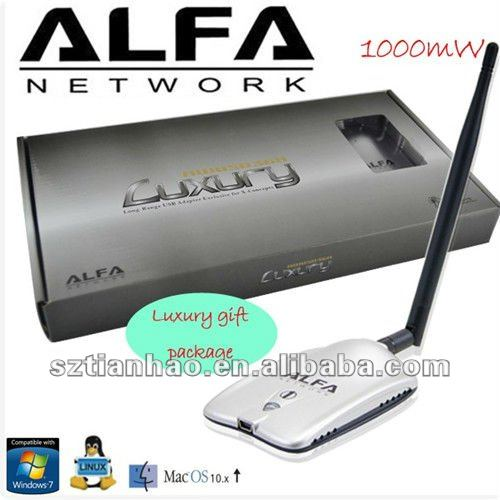 Alfa luxury awus036h-x-concepts long range usb wifi adapter dual 2DBI and 8DBI Antenna