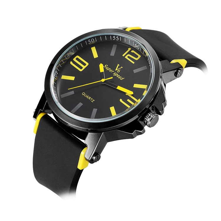 V 0195 V6 arrival brand men simple jelly watches military quartz cheap wrist watches clock male sports