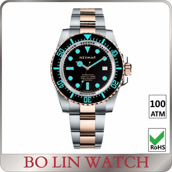 200 ATM Custom Brands Sapphire Watch Glass Luxury Automatic Mechanical Diving Watch Men