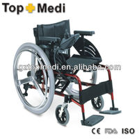 Aluminum Foldable Deluxe Powder Coated Power Wheelchair / Electric Wheelchair / Scooters China