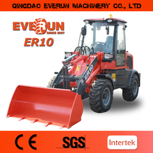 Everun 1.0 Ton Articulated Mini Wheel Loader with Grapple Forks