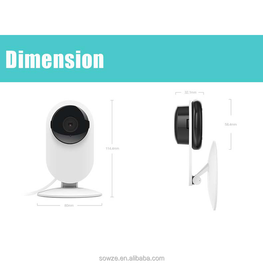 Mini Home Security Pan Tilt 720P CCTV P2P Wireless Ptz IP Camera with Two Way Audio