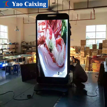 Outdoor waterproof column advertising machine LED display,Full color mobile interactive advertising