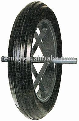 wheel barrow solid rubber wheel and tire SR1510