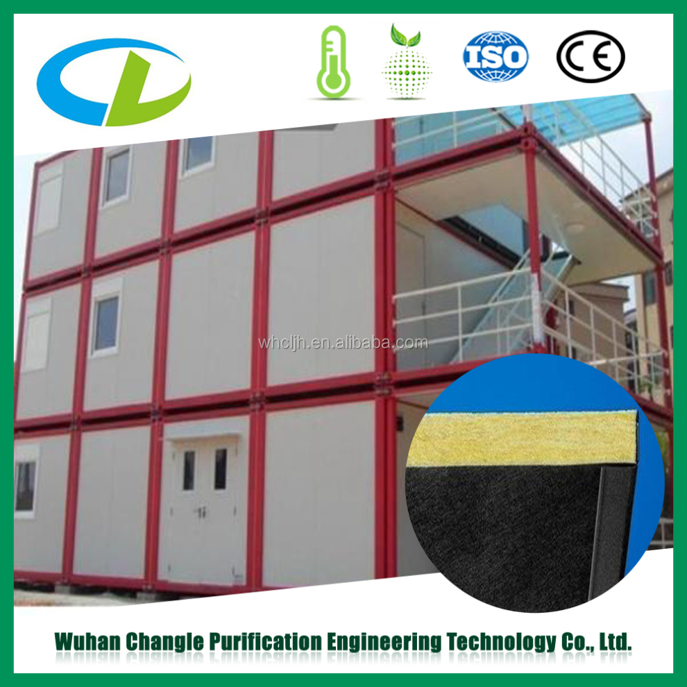 Fast delivery and installation fiber glass wool sandwich panel for workshop