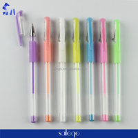 plastic wholesale rubber grip neno colored gel ink pen