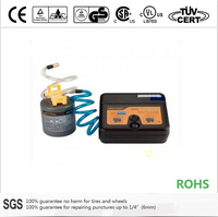 12V portable auto car tire sealant and inflator for tire puncture repair combo