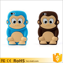 Fancy Animal 3D Monkey Silicone Back Cover Case for iPhone 5c