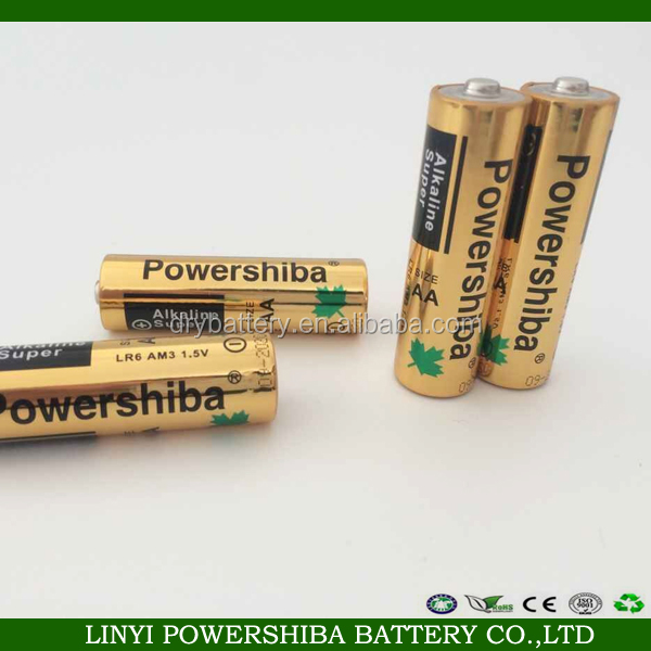1.5V Nominal Voltage aa lr6 am3 alkaline battery
