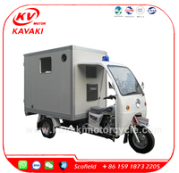 KAVAKI 250CC strong power ambulance cabin tricycle